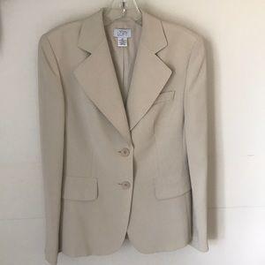 Ann Taylor Loft khaki blazer
